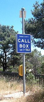 California roadside call box.