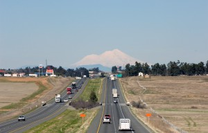 One Hundred Miles To Go (Mt Shasta from Corning, California)