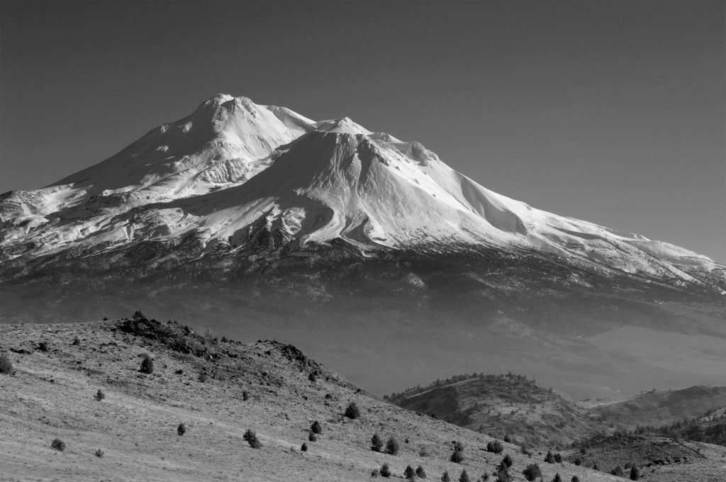 Mt Shasta, California, from Slough Road.